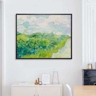 Green Wheat Fields, Auvers (1890) - Tranh canvas treo tường danh hoạ
