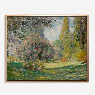 The Parc Monceau (1876) - Tranh canvas treo tường danh hoạ 80x100 cm
