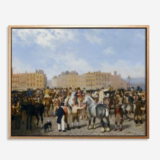 Old Smithfield Market (1824) - Tranh canvas treo tường danh hoạ 80x100 cm