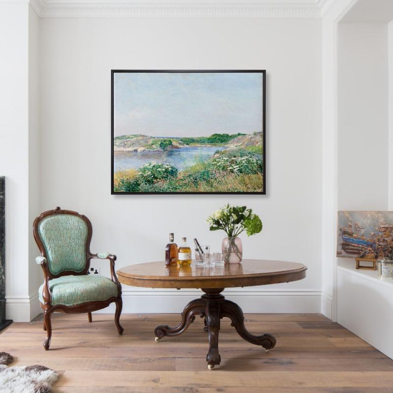 The Little Pond, Appledore (1890) - Tranh canvas treo tường danh hoạ 80x100 cm