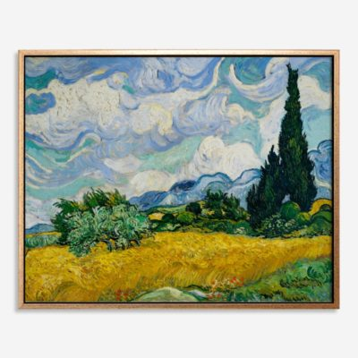Wheat Field with Cypresses (1889) - Tranh canvas treo tường danh hoạ 80x100 cm