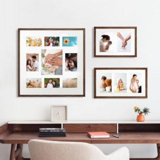 Khung Ảnh Gia Đình Gỗ Sồi Brown Walnut 50x50 cm
