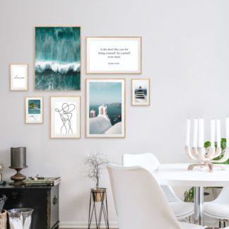 Everlasting Blue - Bộ 7 tranh khung kính treo tường