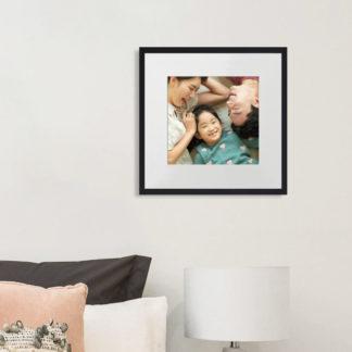 Khung Ảnh Gia Đình Gỗ Sồi Black Ebony 30x30 cm