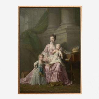 Queen Charlotte (1744-1818) with her two Eldest Sons - Tranh canvas treo tường Allan Ramsay