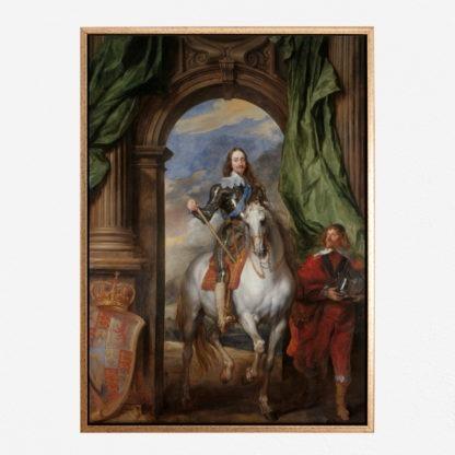 Charles I - Tranh canvas treo tường Anthony Van Dyck