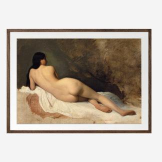Reclining Nude (1841) - Tranh khung kính gỗ sồi 50x70 cm