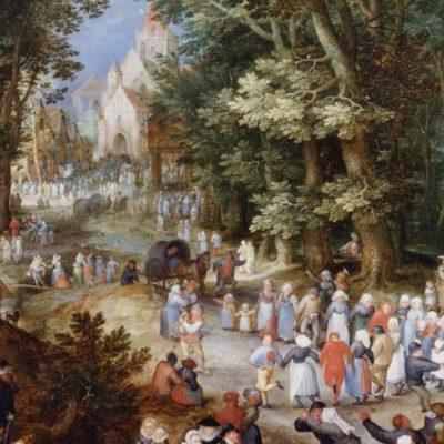 A Flemish Fair - Tranh canvas treo tường Jan Brueghel