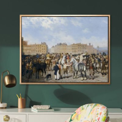 Old Smithfield Market (1824) - Tranh canvas treo tường Jacques - Laurent Agasse