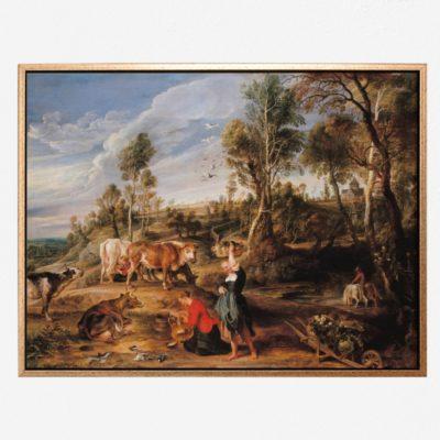'The Farm at Laken - Tranh canvas treo tường Sir Peter Paul Rubens