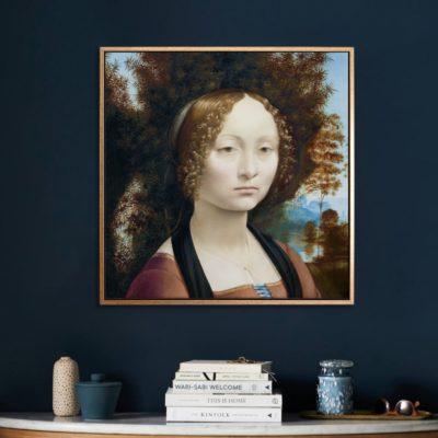 Ginevra de' Benci - Tranh canvas treo tường Leonardo da Vinci