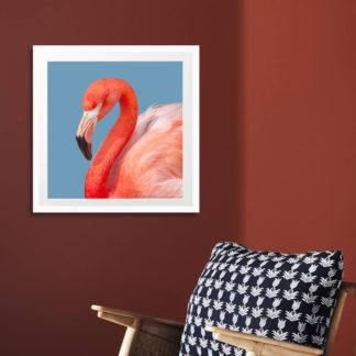 Poster Red Flamingo 30x30 cm