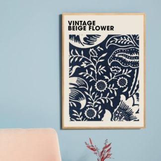 Poster Beige Flower