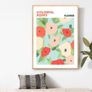 Poster Colorful Poppy