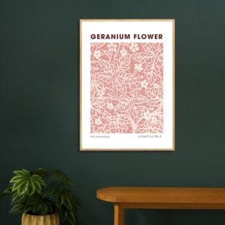 Poster Geranium Flower
