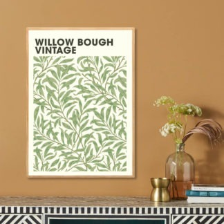 Poster Willow bough vintage