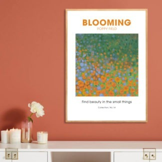 Poster Blooming Poppy Field
