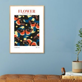 Poster Flower Butterfly