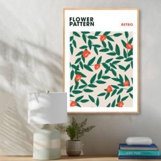 Poster Flower Retro