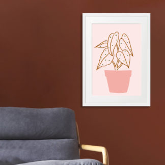 Poster Pink Plant