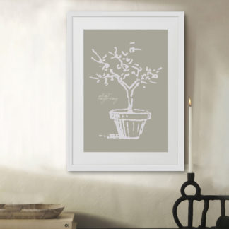 Poster Engraved Plant