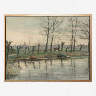 Amsterdam Skyline Viewed from the West (1899) - Tranh canvas treo tường danh hoạ Piet Mondrian