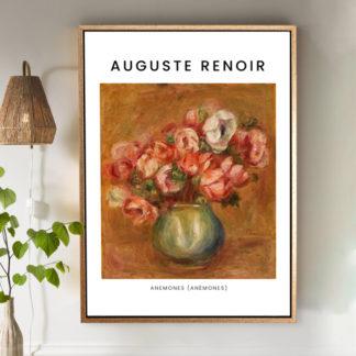 Anemones (1907) - Tranh khung kính gỗ sồi danh hoạ Pierre-Auguste Renoir 50x70cm
