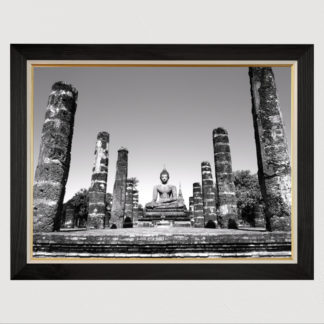 Wat Mahathat - Tranh in khung kính gỗ sồi 60x80cm