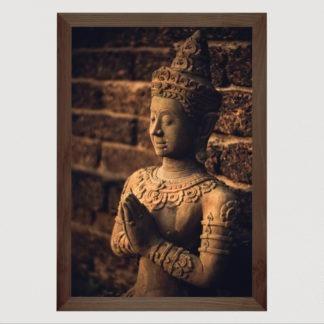 Thai Style Buddha - Tranh in khung kính gỗ sồi