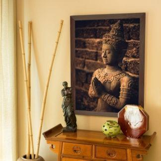 Thai Style Buddha  - Tranh in khung kính gỗ sồi 60x80 cm