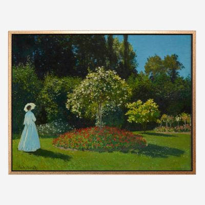 Lady in the garden (1867) - Tranh canvas treo tường danh hoạ Claude Monet