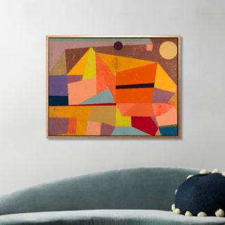 Heitere Gebirgslandschaft (Joyful Mountain Landscape) (1929) - Tranh canvas treo tường danh hoạ Paul Klee