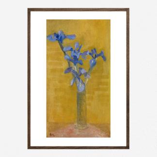 Irises (1910) - Tranh khung kính gỗ sồi danh hoạ Piet Mondrian 50x70cm
