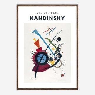 Violet - Tranh khung kính treo tường danh hoạ Wassily Kandinsky 50x70 cm