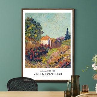 Landscape (1925–1928) - Tranh khung kính treo tường danh hoạ Vincent van Gogh 50x70 cm