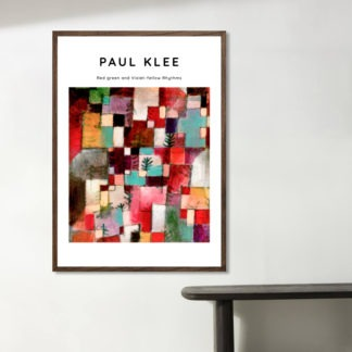 Red green and Violet – Yellow Rhythms - Tranh canvas treo tường danh hoạ Paul Klee