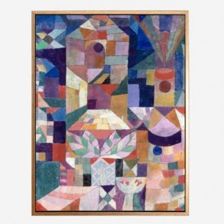 Burggarten abstract - Tranh canvas treo tường danh hoạ Paul Klee