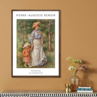 Promenade (1906) - Tranh khung kính gỗ sồi danh hoạ Pierre-Auguste Renoir 50x70cm