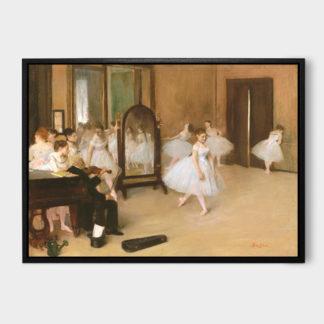 The Dancing Class 1 (1870) - Tranh canvas treo tường danh hoạ Edgar Degas 50x70 cm