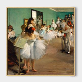 The Dancing Class 2 (1870) - Tranh canvas treo tường danh hoạ Edgar Degas 50x70 cm