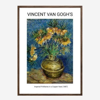 Imperial Fritillaries in a Copper Vase (1887) - Tranh khung kính treo tường danh hoạ Vincent van Gogh 50x70 cm