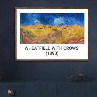 Wheatfield with Crows (1890) - Tranh khung kính treo tường danh hoạ Vincent van Gogh 50x70 cm