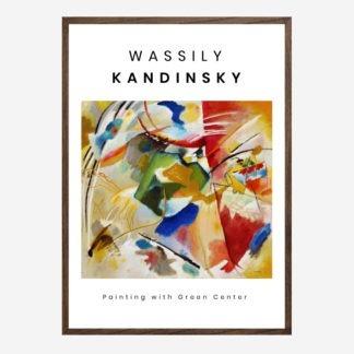 Green Center - Tranh khung kính treo tường danh hoạ Wassily Kandinsky 50x70 cm